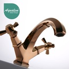Antique Double Handle Brass Rose Gold and Golden basin Faucets