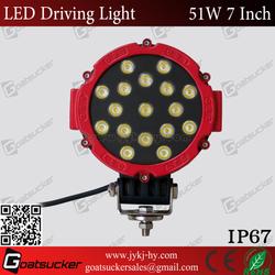 Fashion design 7 inch 51w led work light, off road motorcycle headlight