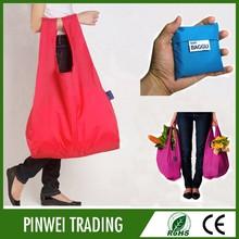 cheap nylon foldable shopping bag , customised shopping bag