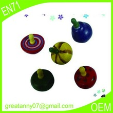 wholesale 2015 alibaba express new product pull string type wooden spinning top for toddlers