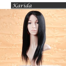Ship DHL human hair product best wholesale straight lace front wig indian remy