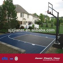 Outdoor Sports PP Interlocking Tiles Basketball Flooring Covering
