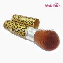 golden color retractable powder brush DSS-105