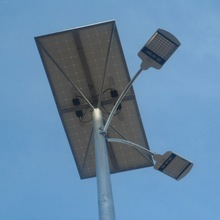 highway used solar street light double arm , solar road ligthing double arm