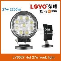 Hot led work light.new 27w car led tuning light led work light