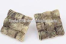 European style retro mixture of square earrings fashion design earrings temperamental design joker stub earrings