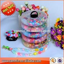 2015 newest colorful crochet bead bracelet DIY beads for kids