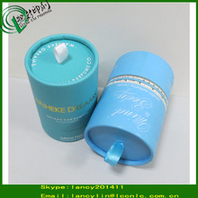 Luxurious biodegradable Cardboard Packaging Box Paper Tube with ribbon for Gift and Cosmetics paper boxes