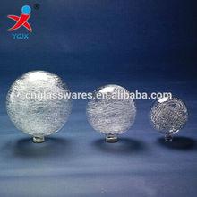 crystal global crackle glass lamp shade