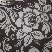 vinyl flower home black and white big flower wallpaper