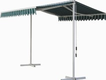 two 2014 Hot sale side double column retractable manual polyester awning,awning component