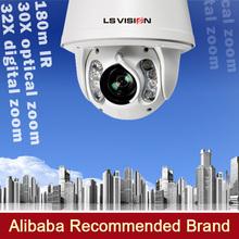 LS VISION Onvif 2MP 180M IR distance IP PTZ security cameras pan tilt and zoom