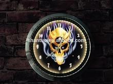 LED neon clock with chromed shell ( 15 inch diameter)