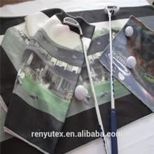 microfiber golf towel ,digital print, Large Size Polyester Microfiber Fabric Branded Printing