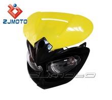YM-007-YE Yellow Universal ZJMOTO Motorcycle Headlight Fairing Motos Enduro Dirt bike headlights fit for KTM EXC SX SXF XC