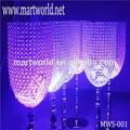 2015 venda quente do casamento de cristal pilares colunas com diodo emissor de luz para a decoração; vaso de cristal para decoração de casamento( mws- 001)