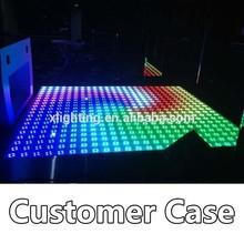 Hot sales!price cheap interactive light weight led dance floor for disco sensitive dancing floor