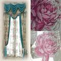 keqiao textiles para el hogar de fábrica al por mayor de algodón cortina cenefa