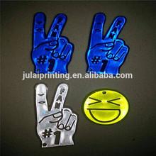 Smile Face /Victory Sign /Popular PVC Flash Reflective Pendants