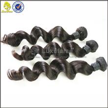 Real virgin hair, loose wave 100% full Cuticle Intact 12-36 inch 100% Virgin Indian hair sensational human hair weave