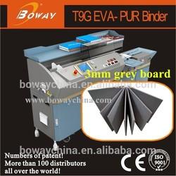 2015 BOWAY no any page fall off PUR hot melt adhesive perfect bookbinder