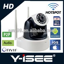 ip camera door eye with IR-CUT unique double antenna unique wifi hotspot wireless ip camera