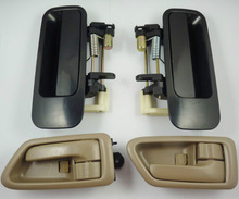 Hot sale high quality 4Pcs Rear Black Outside & Tan Inside Door Handle Handles Fit for Toyota Camry 97-01