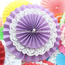 New Design Violet Color Paper Fans Backdrop Wedding Backdrop Decoration