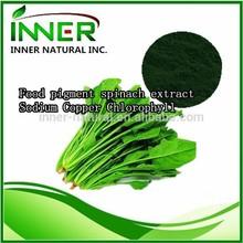 100% natural puro espinacas extracto en polvo, pigmento de alimentos espinacas extracto, de sodio de clorofila de cobre