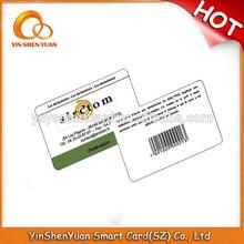 2014 hot sale restaurant black ISO pvc vip card