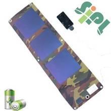 Outdoor 100% waterproof durable Amorphous flexible portable solar power charger bag