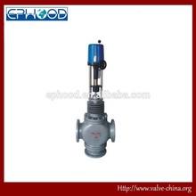 Electric three way diverging / converging control valve