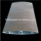 Aluminum rectangular profile rectangle profile for facade louver