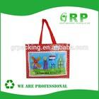 Padding handles PP woven hand bag