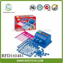 Educational toys plastic bingo game set,family play game new design bingo machine