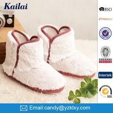 Cheap fashion casual shoe white Plush lady snow boot