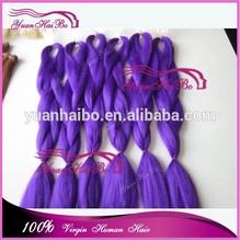 Alibaba Express New Products Yuanhaibo Braiding hair factory wholesale cheap kanekalon hair jumbo purple color hair braiding