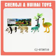 Realistic plastic zoo animal set toy