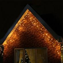 24m EMC LVD RoHS christmas warm white led icicle lights 480 leds led christmas snow roof light