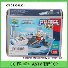 2015 New Design Hot Selling Coast Guard Boat 37Pcs Children Plastic Building Blocks Toys