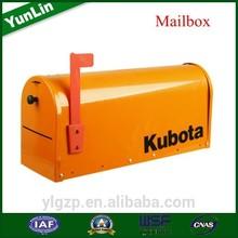AmericanType , Galvanized Steel letter box for stones for farm trailer for garden tractor