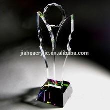 custom acrylic trophy, customized led acrylic trophy base
