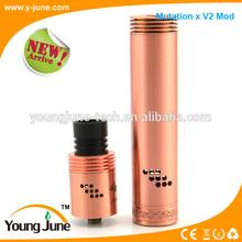 e-ciga mod mutation x v2 mod copper/White/black mutation x v2 mod fit for 18350/18650 battery