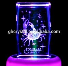 LED Light Based 3D Laser Crystal Gift