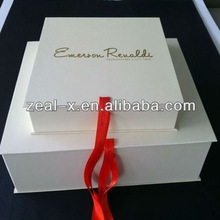 Rectangle Gift Folding Collapsible wedding dress box for sale, cardboard personalized paper matt box
