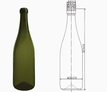 1.5L Glass Champagne Bottle