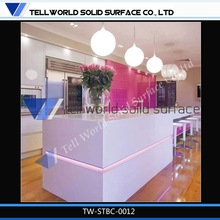 Fabulous man-made/stone solid surface glacier white bar