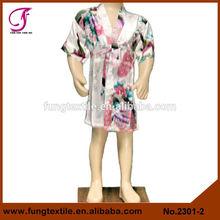 2301 crianças pavão seda Robe Kimono para crianças criança Robes