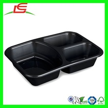 N435 Cheap Disposable Plastic Food Container 3 Compartment Containers Wholesale Alibaba