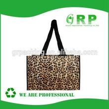Unique Design Leopard Print Shopping Bag Customized Bag